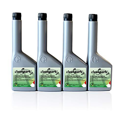 500 ML (4 botellas de 125 ml) CLEANSPARK PLUS aditivo limpiador de inyectores para motores de gasolina (vehículos y motocicletas)