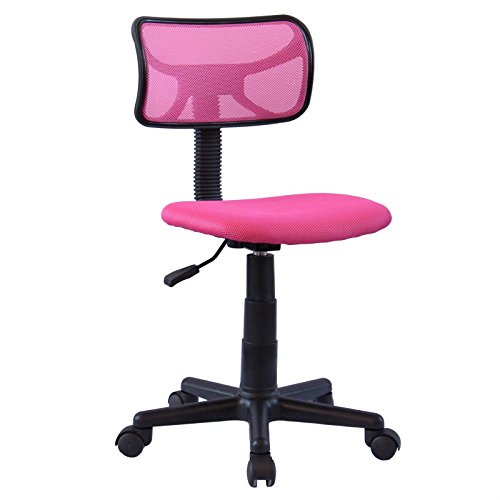IDIMEX Chaise de Bureau pour Enfant Milan Fauteuil pivotant et Ergonomique sans accoudoirs, siège à roulettes avec Hauteur réglable, revêtement Mesh Rose