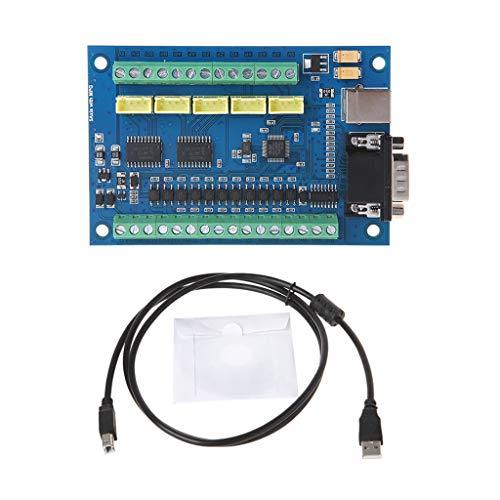 Buwei 12-24V MACH3 USB 5 Ejes 100KHz Tablero de Control de Movimiento Paso a Paso Suave para Grabado CNC