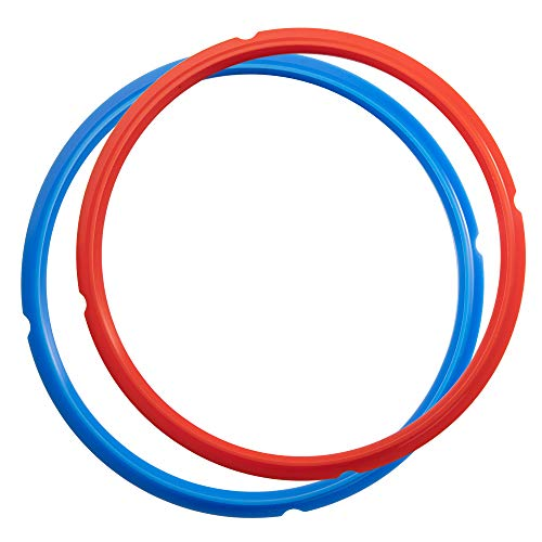 Goldlion Sealing Ring Compatible with Ninja Foodi 5 Quart 6.5 Quart and 8 Quart Silicone Gasket Accessories Rubber Sealer Replacement for Pressure Cooker and Air Fryer, Pack of 2