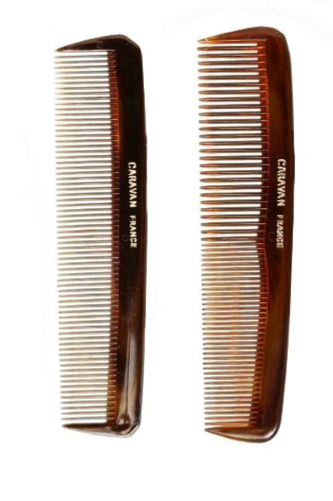線形信条巻き戻すCaravan Tortoise Set Of 2 Shell Comb, Pocket Teeth [並行輸入品]
