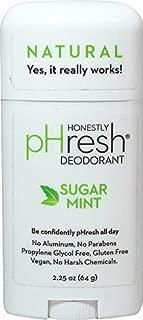 pHresh Sugar Mint Deodorant (All Natural, No Parabens, Vegan, 64g) by Sparklehearts