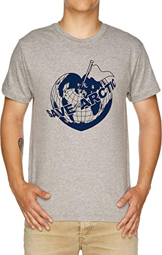 Save The Arctic - Greenpeace Herren T-Shirt Grau