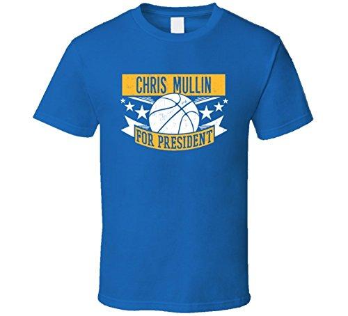 Linda Renee Chris Mullin For President Golden State Basketball Player Sports T Shirt Xlarge
