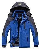 Wantdo Chaqueta de Montaña Esquí Impermeable para Hombres Cielo Azul Medium