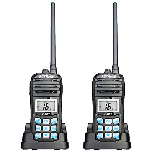 Retevis RT55 Handheld Marine Radios,VHF Radio Floating Walkie Talkies,IP67 Waterproof 2 Way Radios Long Range,Tri-Watch NOAA Vibration Water Draining (2 Pack)