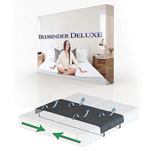 Bedbinder Deluxe Unisci Materassi Nero 60cm Universale | Unisce Due Materassi in Una Grande Superficie. Impedisce al Materasso di Scivolare. Fascia Unisci Materassi