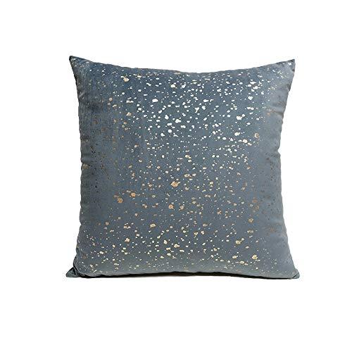 Fundas de cojines Funda de almohada cuadrada de estampado en caliente con aguja de franela de lujo transparente de color puro sin núcleo 1,2 piezas funda de almohada decorativa para sofá 43 cm