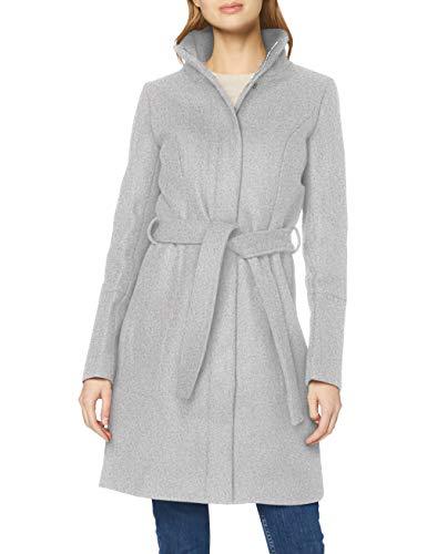 VILA CLOTHES Damen Mantel Vibee Wool Coat-Noos, Grau (Light Grey Melange Light Grey Melange), 36 (Herstellergröße: S)