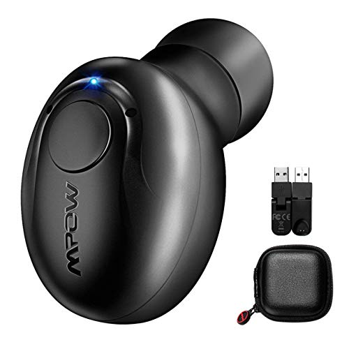 Auricolare Mini Bluetooth 4.1 Mpow Auricolare Mini Wireless Auricolare Mini Invisibile, In-Ear Bluetooth V4.1 Auricolari Mini con Microfono per iPhone...