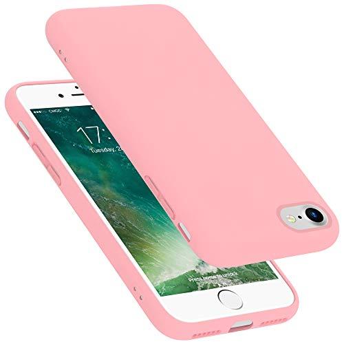 Cadorabo Funda para Apple iPhone 7 / 7S / 8 / SE 2020 en Liquid Rosa - Cubierta Proteccíon de Silicona TPU Delgada e Flexible con Antichoque - Gel Case Cover Carcasa Ligera