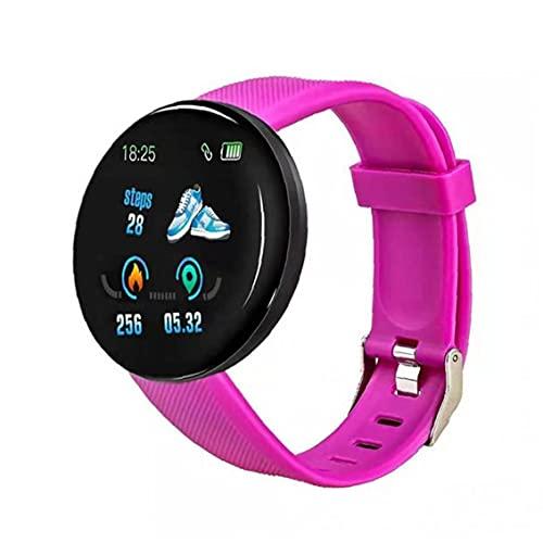 Inteligente venda de reloj del reloj de la aptitud del perseguidor impermeable reloj elegante reloj inteligente D18 Ronda Heart Rate Measure Hombres Mujeres Niños púrpura equipos electrónicos general