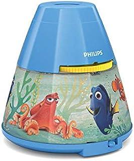 Philips Lighting Proyector y luz nocturna 2 en 1, 0.1 W, Azul claro, Finding Dory