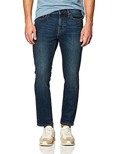 Amazon Essentials Men's Jean ajustado elástico Dark Wash32W x 33L