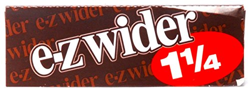 4 Packs of Ez Wider 1 1/4 Cigarette Rolling Papers,ezwider