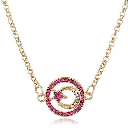 LXESWM hanger choker halsketting dames holle maanvorm eenvoudige prachtige halsketting verjaardag jubileum Moederdagcadeau