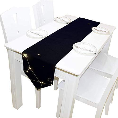 BONRI Blue Galaxy Secrety Tocador Bufanda Cubierta de Tela Camino de Mesa Mantel Mantel Individual Cocina Comedor Sala de Estar Hogar Boda Banquete Decoración Interior , 13 * 70in,13 * 70in