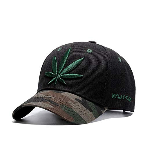 CHEMOXING Mode Stickerei Maple Leaf Cap Weed Snapback Hüte Für Männer Frauen Baumwolle Hip Hop Fitted Baseball Caps