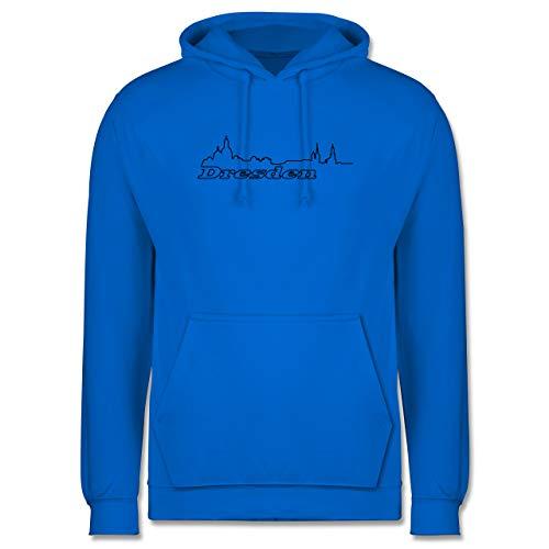 Shirtracer Skyline - Dresden Skyline - XXL - Himmelblau - Silhouette - JH001 - Herren Hoodie und Kapuzenpullover für Männer