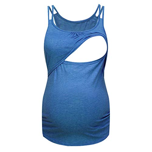 Schwangerschaft Sommer Umstandsmode Große Größen,Damen Kurzarm Pure Color Tops Stillen Stillmode Stillshirt Stilltop Umstandsmode Stillkleidung Umstandsmode Günstig