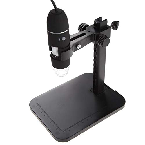 Microscopio Digital USB, 1000X 8 LED 2MP Micro De Alta Velocidad Alcance De Zoom De La Cámara Lupa + Soporte para Elevación