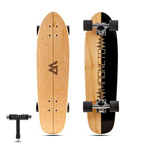 Magneto Mini Cruiser Skateboard Cruiser | Short Board | Canadian Maple Deck - Designed for Kids, Teens and Adults … (Music)