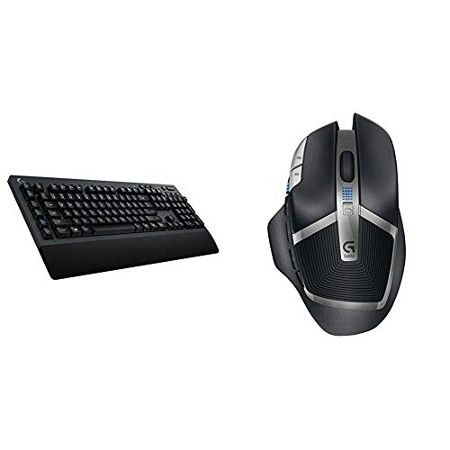 Logitech G613 Lightspeed Wireless Mechanical Gaming Keyboard, Multihost 2.4 GHz + Blutooth Connectivity & G602 Lag-Free Wireless Gaming Mouse – 11 Programmable Buttons, Up to 2500 DPI