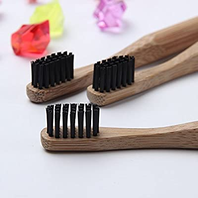 Bamboo Toothbrush Environmentally-Friendly BPA Free Recyclable Bamboo Toothbrushes with Rounded Handle 1PC