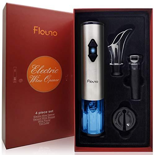 Flauno Sacacorchos Eléctrico, Automatico Abrelatas de Vino, Abridor Botellas de Vino con...