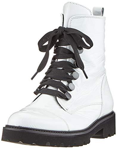 Gabor Dames Fashion 31.801. Enkellaarsjes, Wit wit zwart 91, 41 EU
