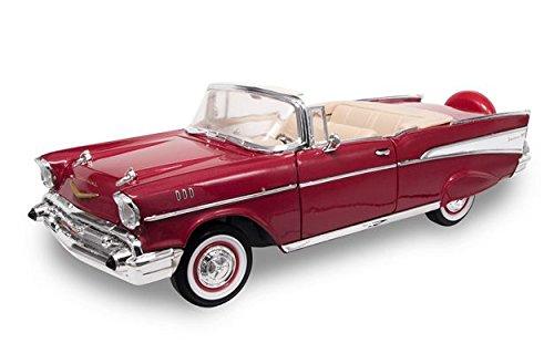 CHEVROLET BEL AIR 1957 RED METALLIC 1:18 - Lucky Die Cast - Auto Stradali - Die Cast - Modellino