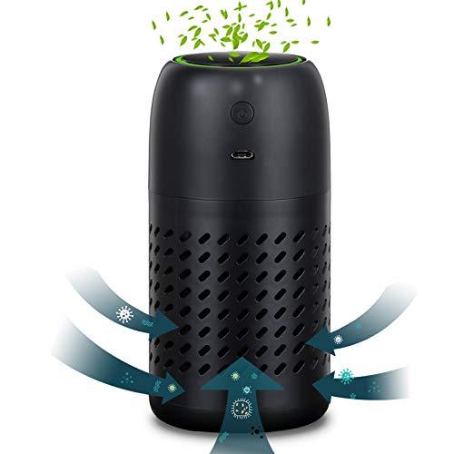 Aibrisk - Purificador de aire portátil de iones negativos para el hogar con filtro de carbono que elimina el olor de humo, polvo,...