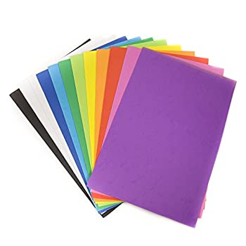 Horizon Group USA Rainbow Foam Sheets 12  X 18  Pack of 12 Multi-Color