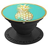 Watercolor Pineapple on Teal PACJ0010 - PopSockets Grip and Stand for Phones and Tablets