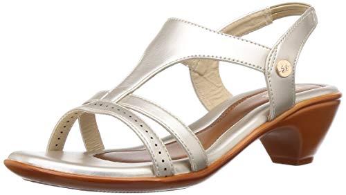 BATA Women's Anjali White Fashion Sandals-4 (6611588)