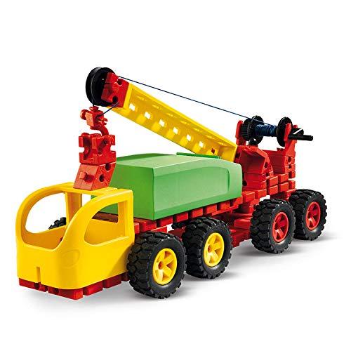 fischertechnik Jumbo Starter - das Spielzeug für ab 5 Jahre - der Baukasten für Kinder enthält große und einfach zu greifende Bauteile - 16 Modelle - 135 Bauteile