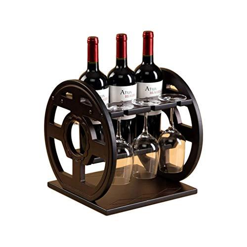 IREANJ Estante del Vino Copa de Vino Titular de la casa Patas Arriba Bastidor salón Cocina de exhibición del Vino Barra de Apoyo café decoración de Madera Maciza botellero Bastidores de Vino