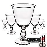 6x Cointreau Cristal Vasos cocktail licor Diseño Inoxidable Gastro Bar + anygoods Botella vertedor