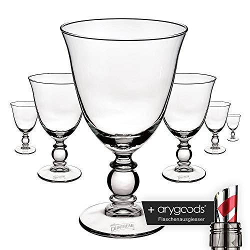 6 x Cointreau Glas Gläser Cocktail Likör Edel Design Gastro Bar NEU + anygoods Flaschenausgiesser