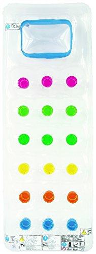 Best Sporting Luftmatratze mit Fenster und runden Taschen, Farbe:transparent