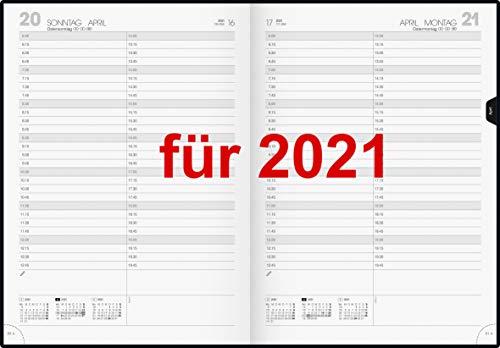 Praxiskalender Terminkalender A4 Tageskalender 2021 viertelstündige Einteilung