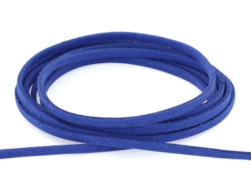 AURORIS - Weiches flaches Band aus Wildlederimitat 3mm - Länge / Farbe wählbar - Variante: 2m /...