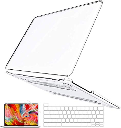 BELKA MacBook Pro 13 inch Case 2020 2019 2018 2017 2016 Release M1 A2338 A2251 A2289 A2159 A1989 A1706 A1708, Crystal Clear Plastic Hard Cover & Keyboard Cover & Screen Skin, Mac Pro 13 Case Touch Bar