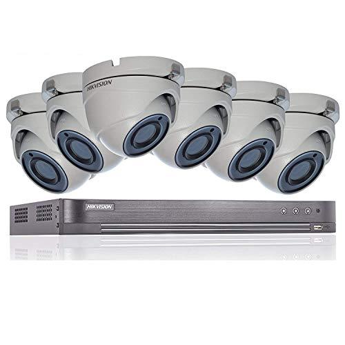 HIKVISION - Sistema de seguridad CCTV (5 MP, 4 K, DVR, 8 canales, 2 TB, H.265+ HIK, 5 MP, 2,8...