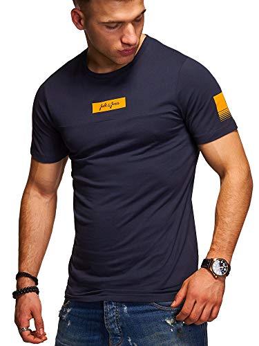 JACK & JONES Herren T-Shirt O-Neck Print Shirt (XXL, Total Eclipse)