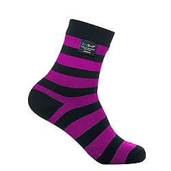 Dexshell Ultralite Bamboo Sock - Pink Stripe - L