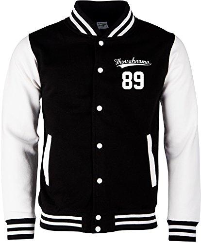 EZYshirt® Wunschnamen und Wunschnummer Brannon Pärchen College Jacke