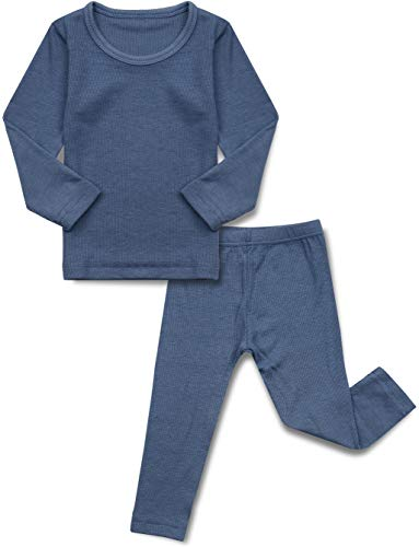 AVAUMA Baby Boys Girls Pajama Set Kids Toddler Snug fit Ribbed Rayon Sleepwear pjs for Daily Life...