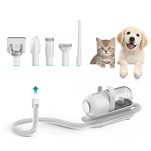 neabot P1 Pro Pet Grooming Kit & Vacuum Suction 99% Pet Hair, Professional Grooming Clippers with 5 Proven Grooming Tools for Dogs Cats and Other Animals