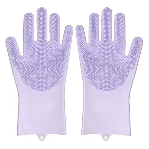 M&J 多機能掃除手袋 ペットブラシ グローブ 手袋 ペット シャワーブラシ マッサージ手袋 犬猫通用 柔らかい お手入れ簡単 泡たっぷり 耐久性抜群